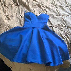 NWT PRAGUE blue strapless dress size XS